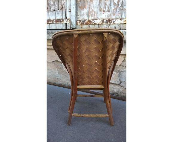 chaise enfant rotin vintage