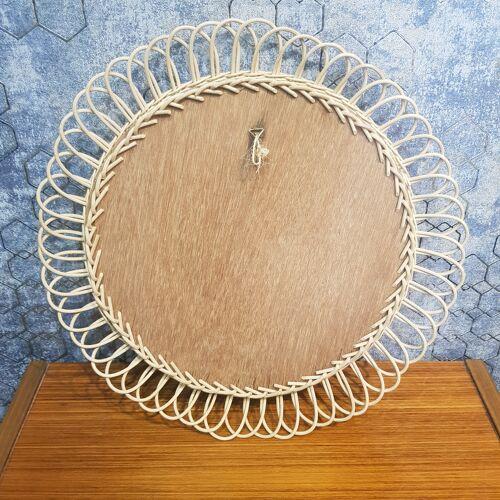 Miroir en rotin 43cm