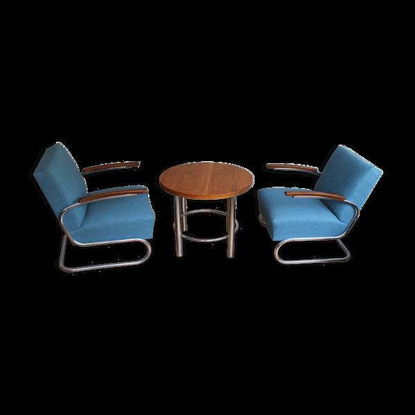 Selency Table basse et fauteuils des années 30