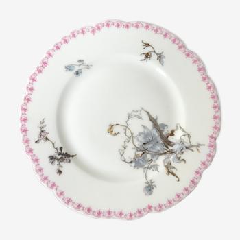 Assiette à dessert en porcelaine Haviland