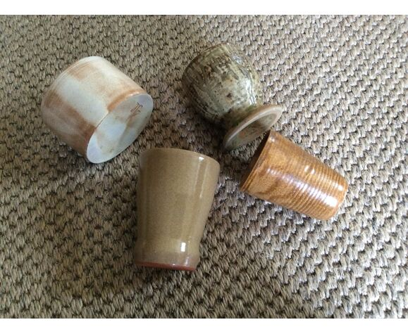 Set of 4 stoneware cups