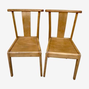 Set 6 duos de chaises bistrot Stella vintage