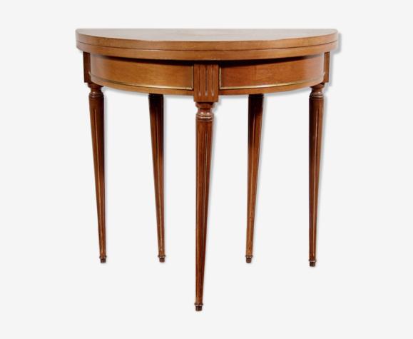 Table demi-lune de style Louis XVI