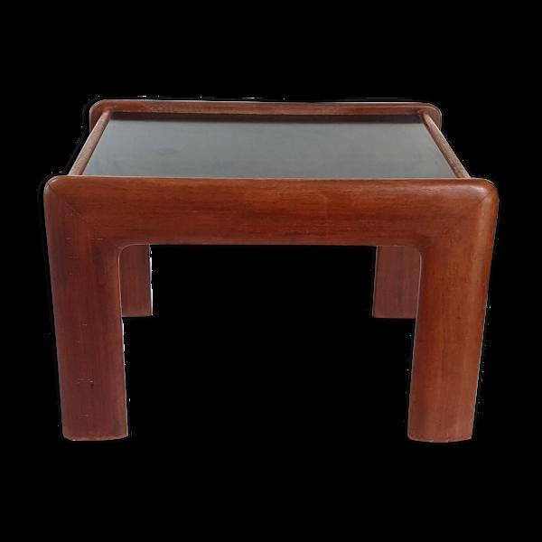 Selency Table d'appoint en teck massif vintage 1960
