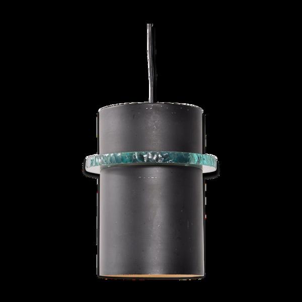 Lampe à suspension en métal hollandais des années 1960