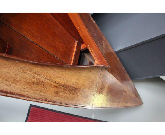 Canoe vintage bois