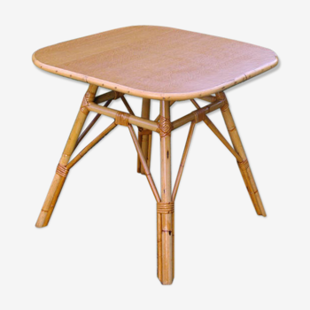 Rattan coffee table square