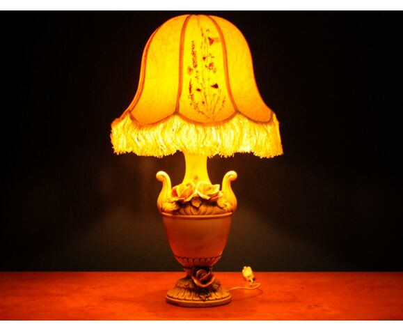 Lampe de salon en porcelaine italienne