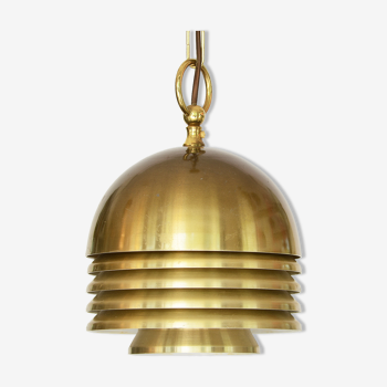 Golden layered pendant light by T. Röste & Co. Norway 1960s.