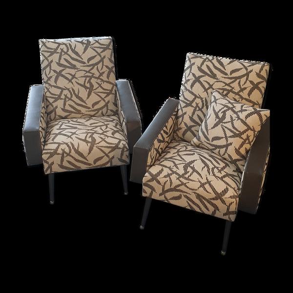 Selency Paire de fauteuils des années 50