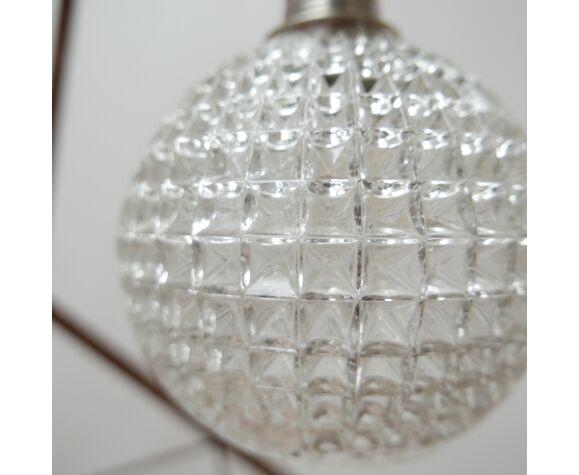 Late 20th dutch glass ball pendant light