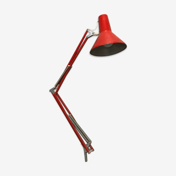 Lampe d'atelier rouge HCF