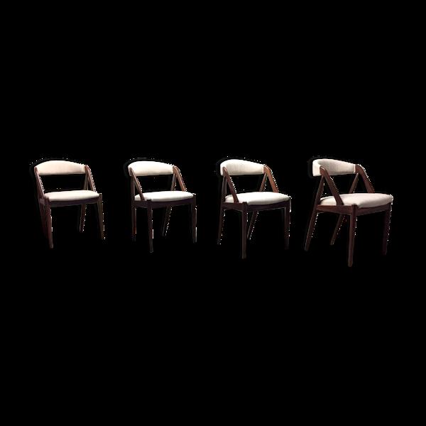 4 chaises par par Kai Kristiansen pour Schou Andersen 1960