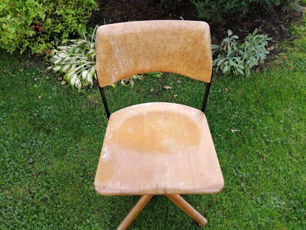 Chaise de bureau réglable en hauteur vintage Stoll
