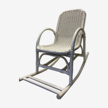 Rocking-chair chair enfant vintage rotin