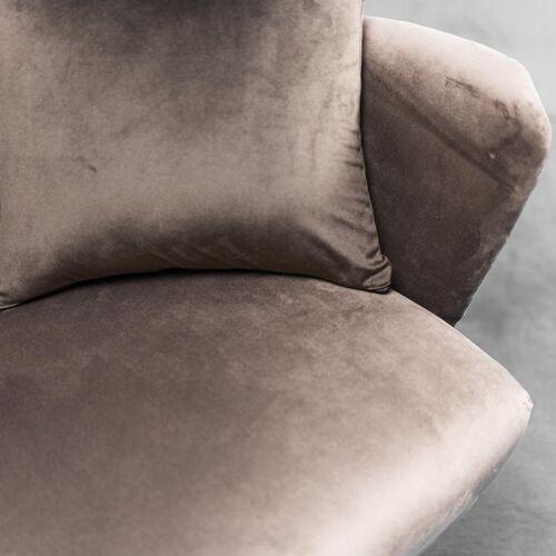 2 seater sofa zuffi velvet cushions 70