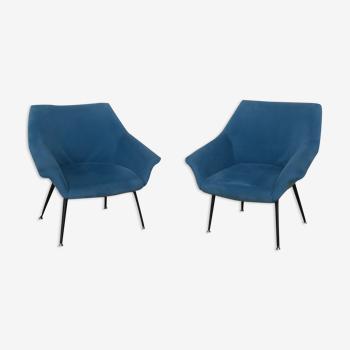 Paire de fauteuils coquille des années 60