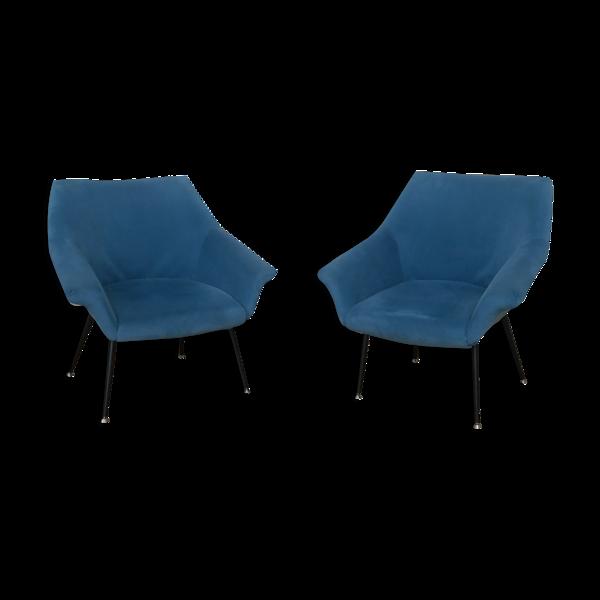 Selency Paire de fauteuils coquille des années 60