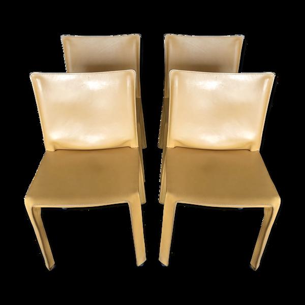 Lot de  4 chaises CAB412 designer Mario Bellini pour Cassina
