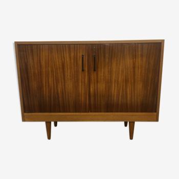 Buffet en bois clair et palissandre années 60