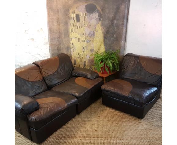 Canapé modulable et fauteuil des années 70 de UBU