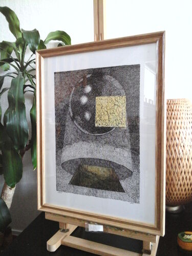 """""""Genesis"""" encre de chine et aquarelle"""
