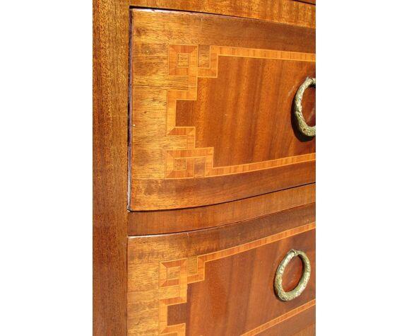 Commode 4 tiroirs Art Déco 40/50 , marquetée