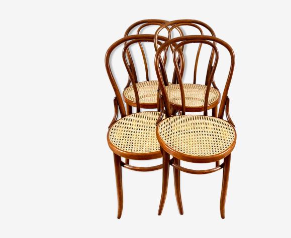 Série de 4 chaises bistrot vintage