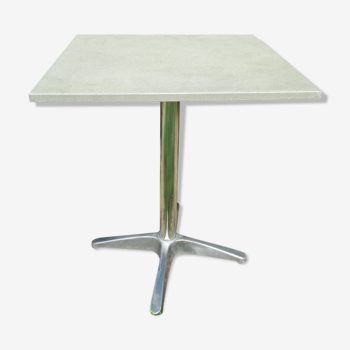 Table bistrot vintage années 70  pied aluminium