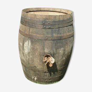 Ancienne barrique en chêne à Cognac 220 litres