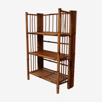 Foldable bamboo shelf