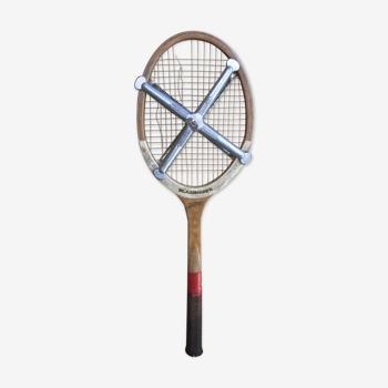 Raquette tennis Slazenger bois avec protection métal zephyr vintage
