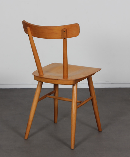 Ensemble de 3 chaises vintage édité par Ton, 1960