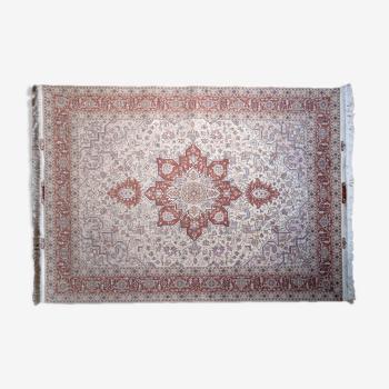 Tapis persan heriz laine et soie fait main 150x207 cm