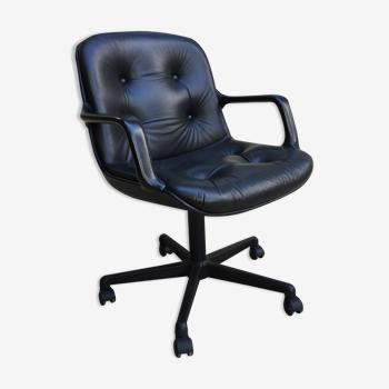 Fauteuil en cuir Comforto par Mobilier international