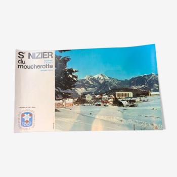 Affiche st nizier de moucherotte jeux olympiques d'hiver grenoble 1968 tremplin vercors
