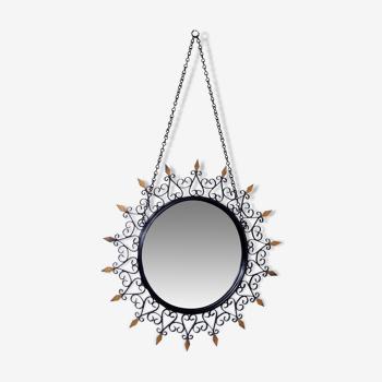 Miroir soleil Chatty Vallauris convexe 33cm