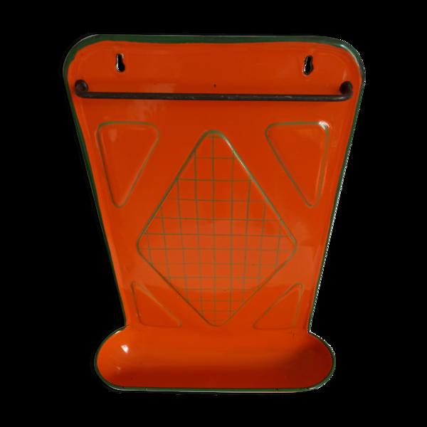 Porte ustensile de cuisine orange émaillé