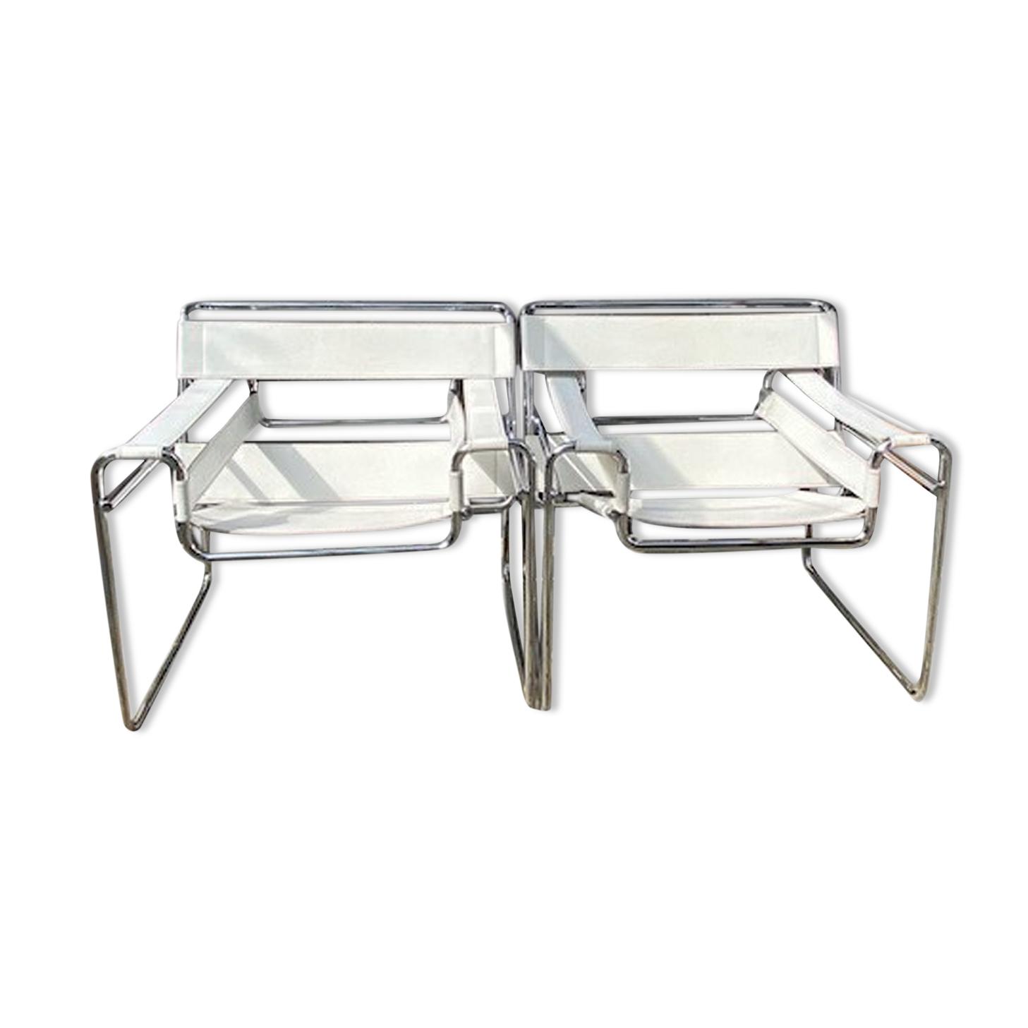 Paire de fauteuils wassily de Marcel Breuer 70