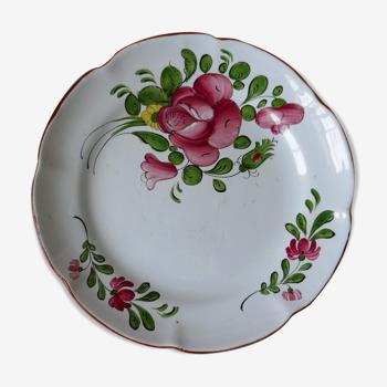 Assiette ancienne XIXème siècle