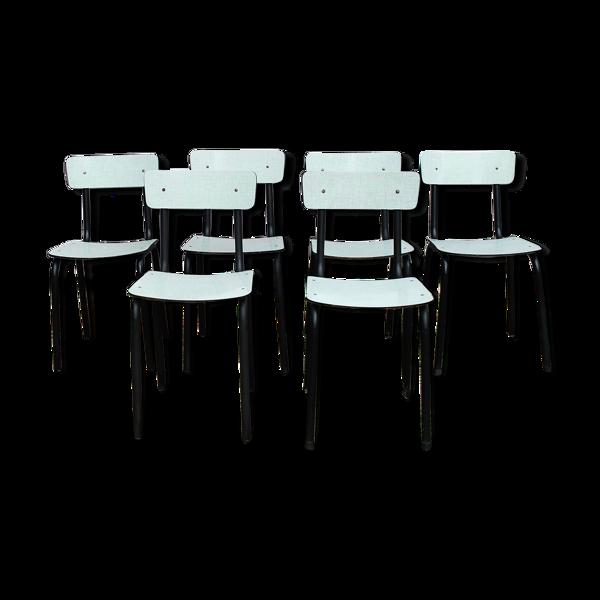 Lot de chaises en formica vintage