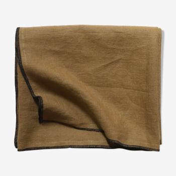 Camel linen tablecloth