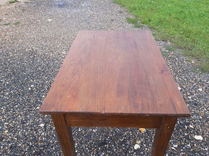 Table 19ème en pin avec un tiroir