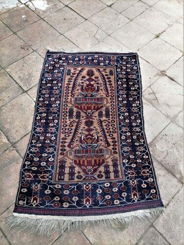 Ancien tapis oriental début du XXème siècle 140 x 89cm