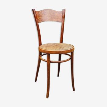 Chaise bistrot art nouveau en bois courbé