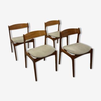 Lot de 4 chaises par Erik Buch