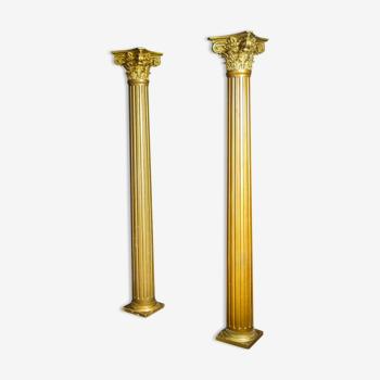 Colonnes colorées d'or classique de cru