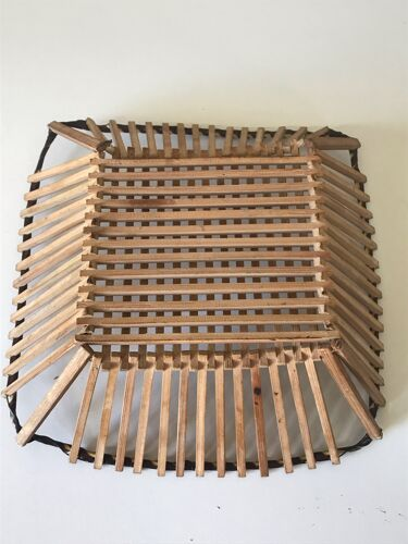 Corbeille bambou vintage années 60
