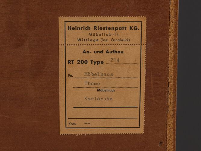 Enfilade des années 1960, Heinrich Riestenpatt
