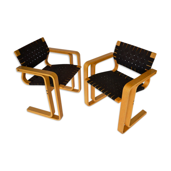 Selency Paire de fauteuils 5531 par Rud Thygesen & Johnny Sørensen pour Magnus Olesen, années 1950